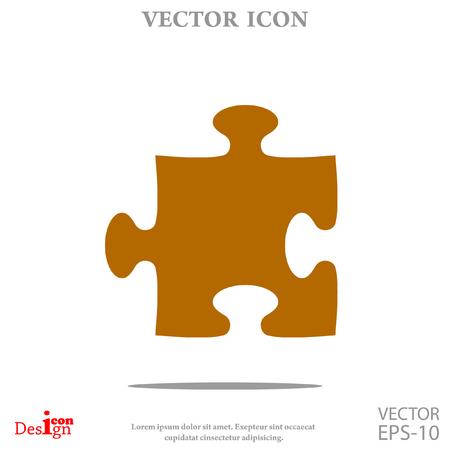 Puzzle vector icon Illustration