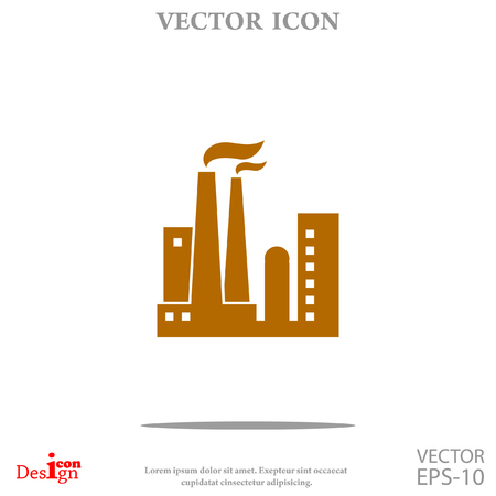 dangerous construction: Plant vector icon Illustration