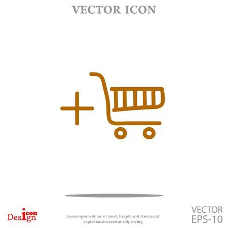 shopping chart vector icon
