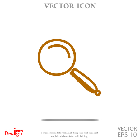 Lupe vector icon Illustration