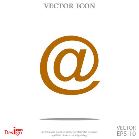 correo electrónico del icono del vector