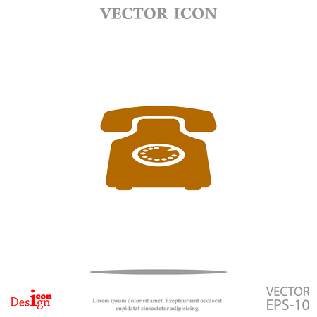 old phone: phone vector icon Illustration