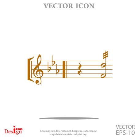 quaver: music vector icon Illustration