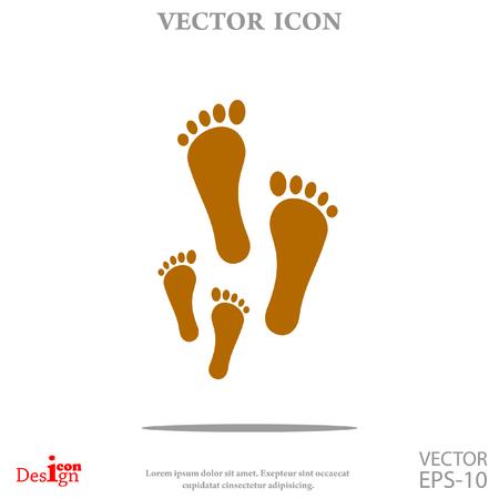 foot vector icon