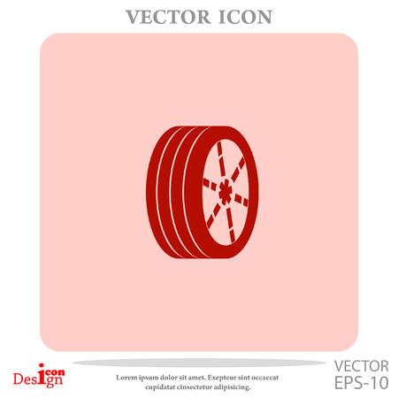 wheel vector icon Illustration