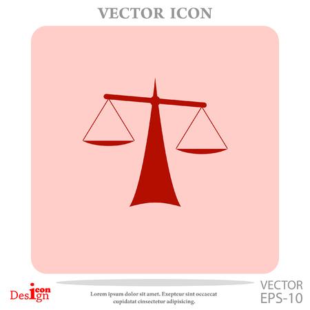 scale icon: Justice vector icon