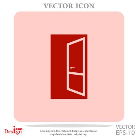 door knob: open door vector icon