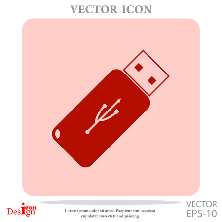 usb flash vector icon