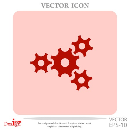 wheel spin: gears vector icon