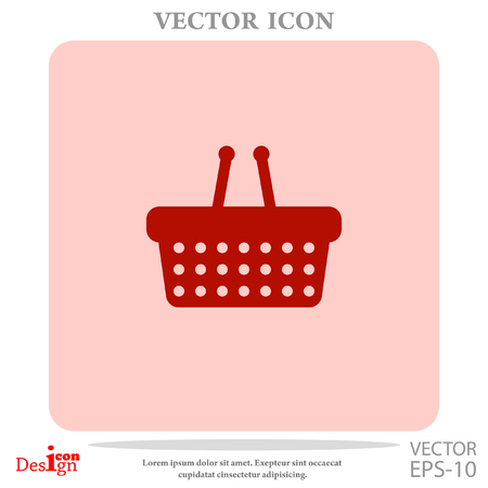 simple store: shopping basket vector icon