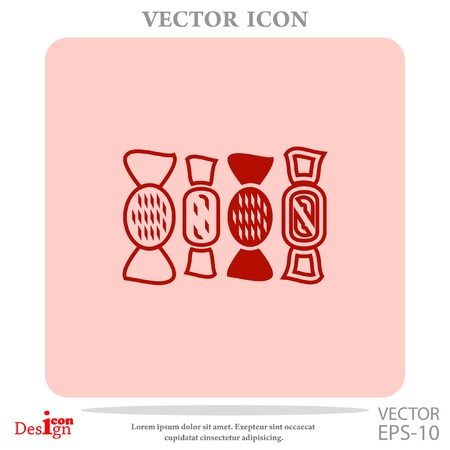 chocolate swirl: sweets vector icon