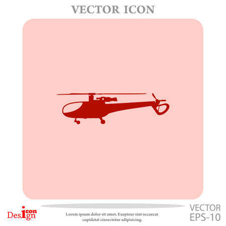 helicopter vector icon