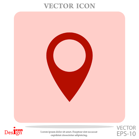 needle tip: marker vector icon Illustration