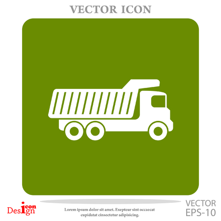 industrial machinery: dump truck vector icon