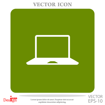 lcd: laptop vector icon Illustration