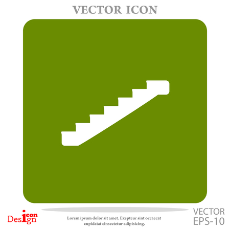 achievement concept: staircase vector icon Illustration