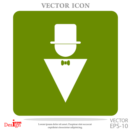 Mann-Vektor-Symbol