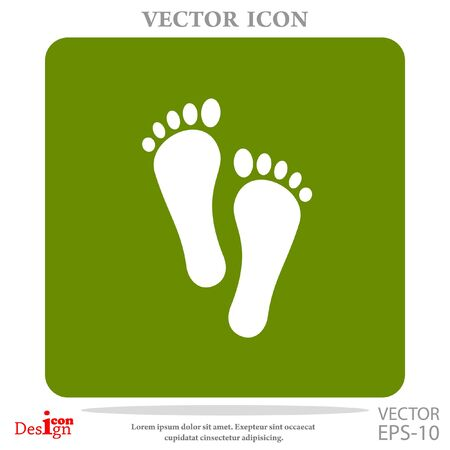 abstract paintings: foot vector icon