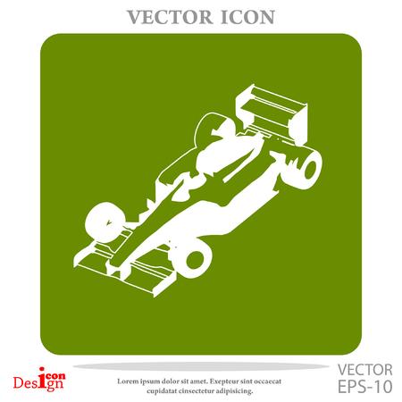 racecar: sport car vector icon