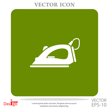 ironing: steam iron vector icon