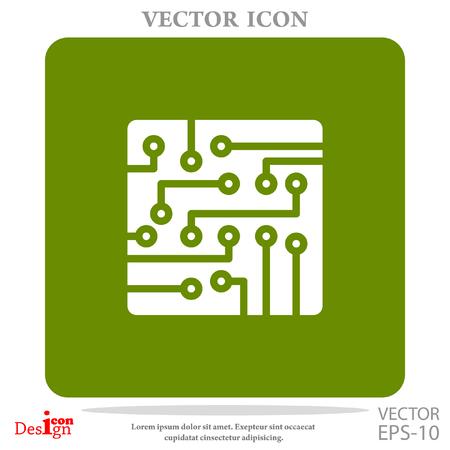 electronic circuit: circuit board vector icon