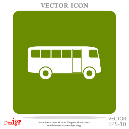 auto service: bus vector icon