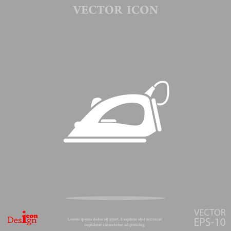 iron: steam iron vector icon