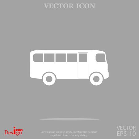 schoolbus: bus vector icon
