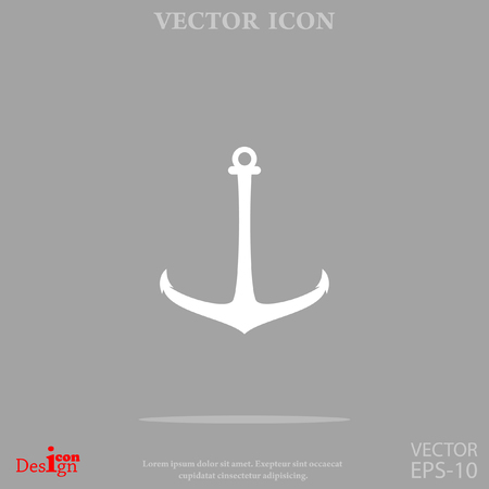 iron: anchor vector icon Illustration