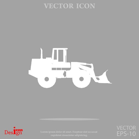 industrial machinery: traktor vector icon