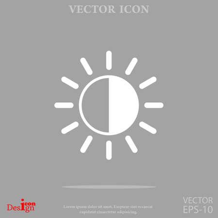 sun: Brightness vector icon Illustration