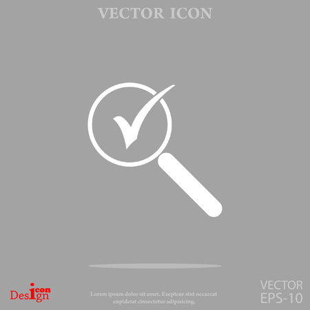 Zoom vector icon Illustration