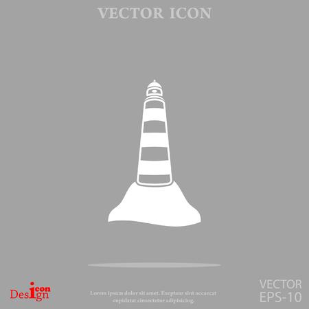 Beacon vector icon. Illustration