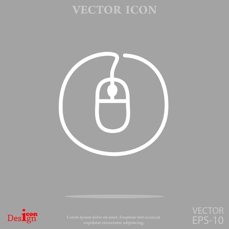 wire: Mouse vector icon. Illustration