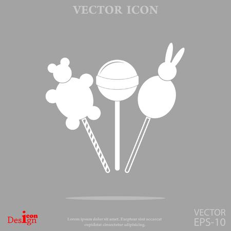 Lollipop vector icon.