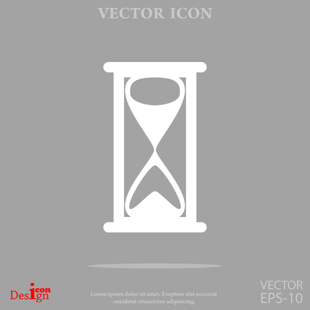 timepieces: Hourglass vector icon.