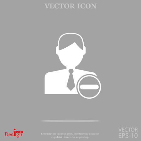 Remove contact vector icon.