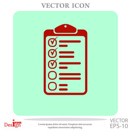pad: clipboard vector icon