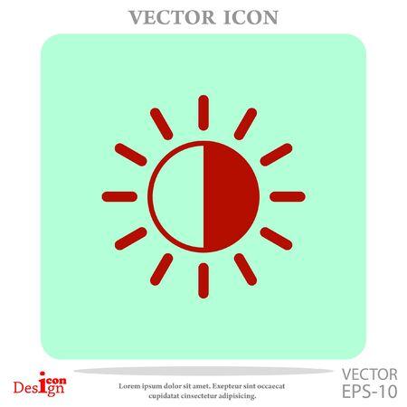 brightness: brightness vector icon Illustration