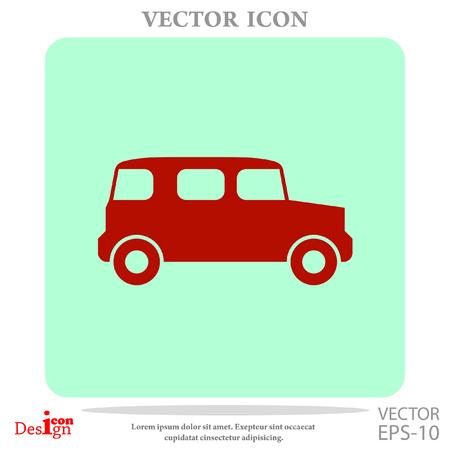 vintage car vector icon Illustration
