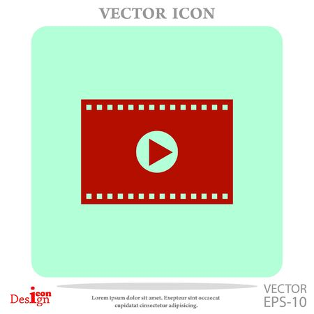 avi: video vector icon Illustration