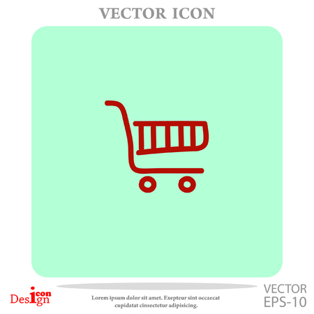e commerce icon: shopping chart vector icon
