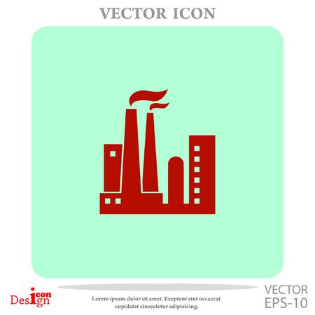 distillery: plant vector icon Illustration