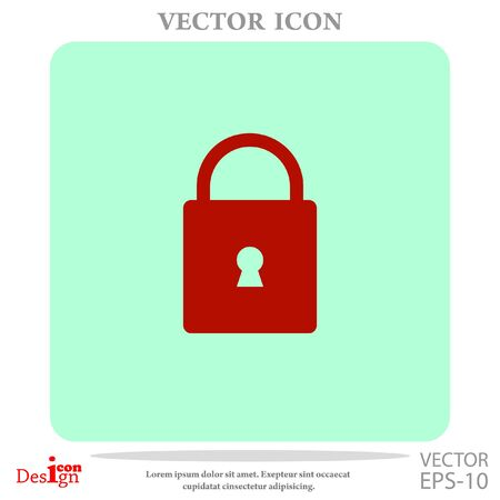 key hole: lock vector icon