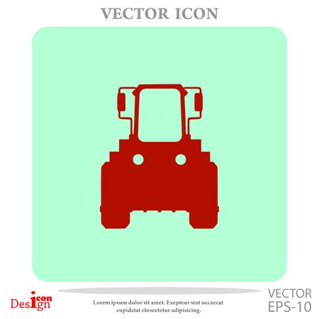 tractor vector icon Illustration