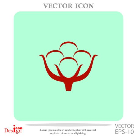 textile industry: cotton vector icon