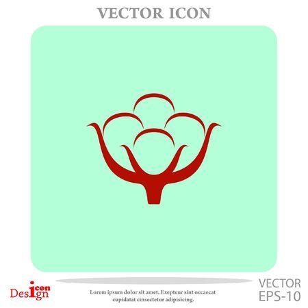 genuine: cotton vector icon