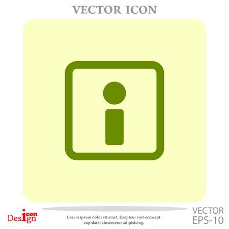 inform information: info vector icon Illustration
