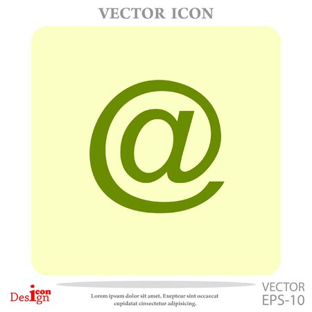 email vector icon Illustration