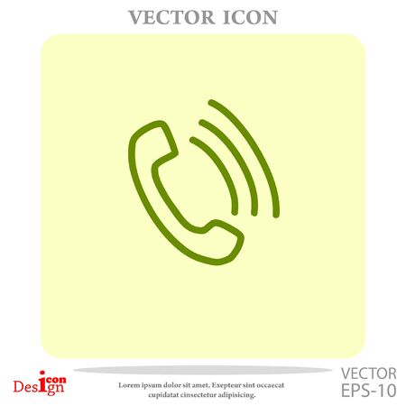 receiver: phone vector icon Illustration